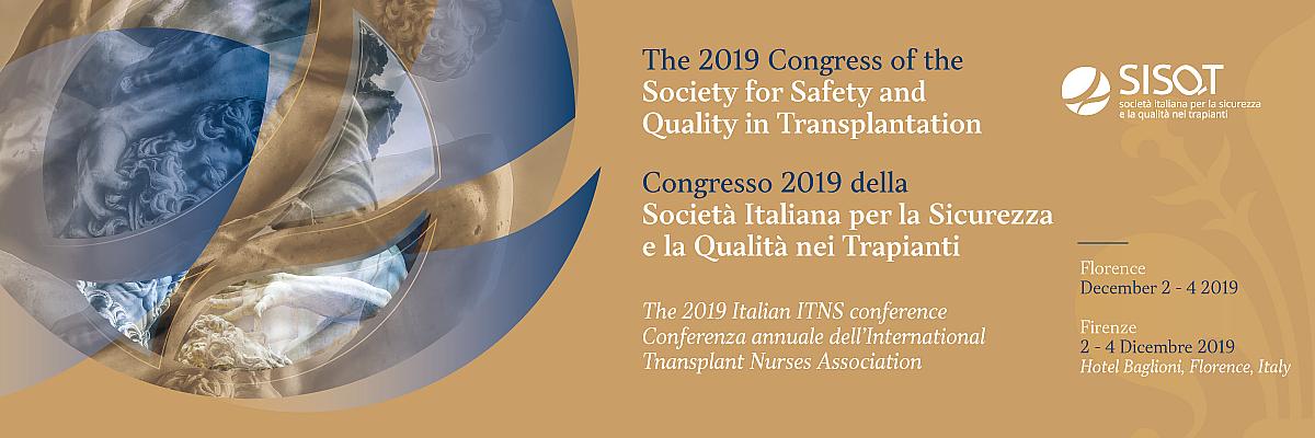 Congresso SISQT 2019 della Società Italiana per la Sicurezza e la Qualità nei Trapianti